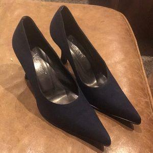 Versani Navy Blue High Heels Used Size 6 1/2 B